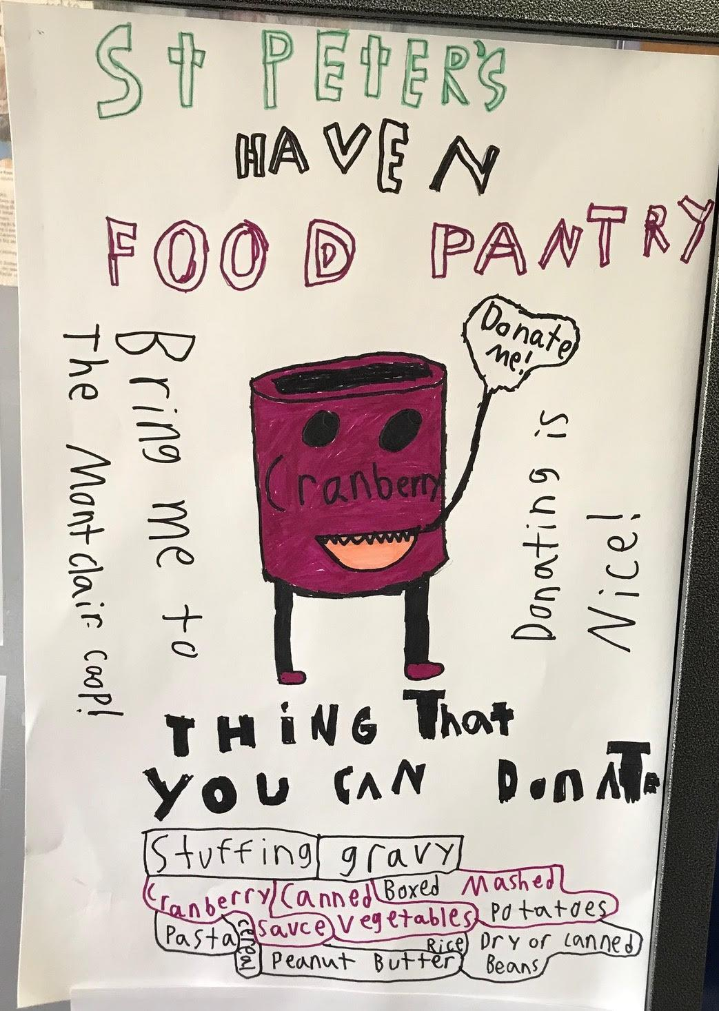 Thanksgiving Food Drive for St Peter's Haven
